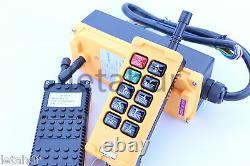 12-415V 2 Transmitter 10 Channels Industrial Wireless Crane Hoist Remote Control