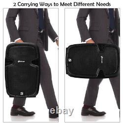 12 Dual 2-Way 1600 W Powered PA Speaker System Portable DJ Speaker withBluetooth