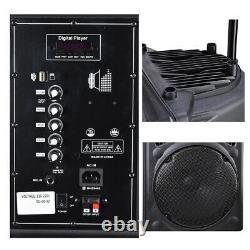12 Professional Power Active 1200W DJ PA Speaker Bluetooth USB Remote Portable