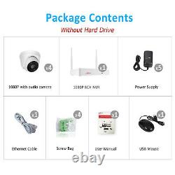 1296P HD Wifi Security Camera System Wireless Outdoor IP CCTV 8CH NVR Kit APP US