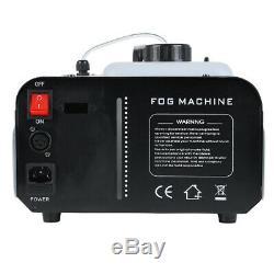 1500 Watt Smoke Fog Machine 9 LED Lights Remote Control DJ Party Stage Fogger