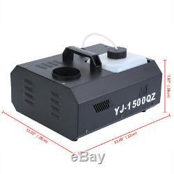 1500W Smoke Fog Effect Machine Vertical Fogger UpSpray With Remote Control DMX