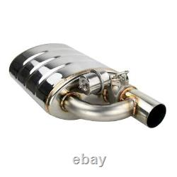 2.5 Tip On Single Exhaust Muffler Valve Cutout With Wireless Remote Controller