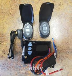 (2 remotes) Dump Trailer Wireless Remote Control 12 volt Hydraulic Lift Winch