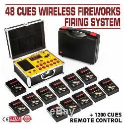2020NEW+48 Cues FCC fireworks firing system+1200Cues CE wireless remote Controll