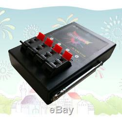 24 cues fireworks firing system 500M wireless remote control ABS Waterproof Case