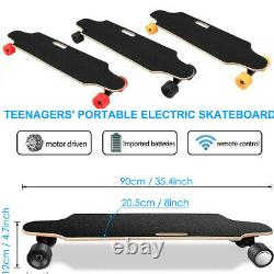 250W Electric Skateboard Longboard with Wireless Remote Controller E-Skateboard