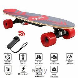 28inch Electric Skateboard 350W Motor Longboard Board Wireless withRemote Control