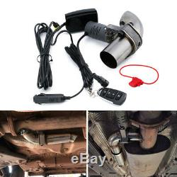 2Electric Exhaust Valve Control Downpipe Part Cut Out Catback Wireless Remote