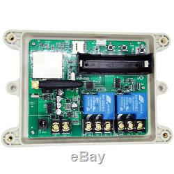 4G GSM Relay Switch 12V Solenoid Remote Control Wireless Gate Opener 2CH Output