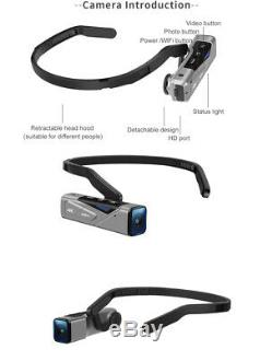 4K Camcorder, Wearable Video Camera, Mini Body Camera
