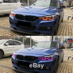4x App Control HID RGBW Angel Eye Halo Ring Markers Kit For BMW F30 F31 3 Series