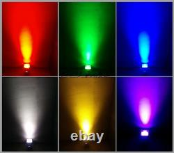 6in1 RGBWA+UV DMX LED Flat Par Light Wireless Stage Wash Up-Light DJ Pro Truss