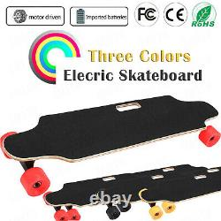 Aceshin Electric Skateboard Cruiser Maple Long Board Wireless +Remote Controller
