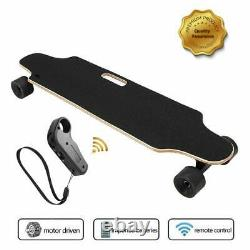 Aceshin Electric Skateboard Longboard with Wireless Handheld Remote Control Gift