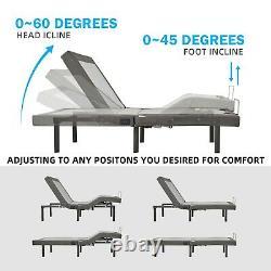 Adjustable Health Bed Base Ergonomic Massage Wireless Remote Control, Twin XL