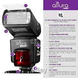 Altura Photo Studio Pro Flash Kit for CANON DSLR Bundle with 2pcs E-TTL Flash