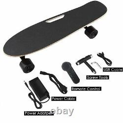 Ancheer Portable Electric Skateboard with Wireless Handheld Remote Control 350W