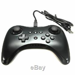 Black Classic Wireless Pro Controller Game Remote Gamepad for Nintendo Wii U