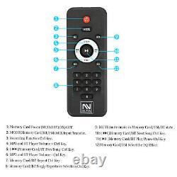 Bluetooth Speaker Trolley Rechargable Dual 10 Woofer Party FM Karaok DJ LED AUX