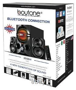 Boytone BT-324F, Powerful Wireless Bluetooth Home Speaker System 40 W, FM Radio