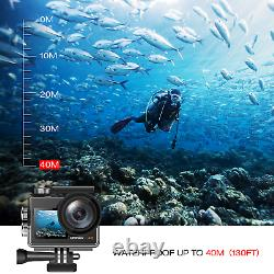 Campark X40 Action Camera 4K 20MP WiFi Vlogging Camera EIS Dual Touch Screen US