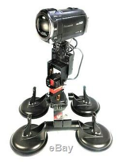 Car Roof Video Camera Mount + Wireless Remote Control 360° Pan 180°Tilt Device