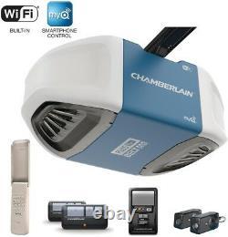 Chamberlain Garage Door Opener Wifi Smart Quiet Belt Drive B750 Remote Wireless