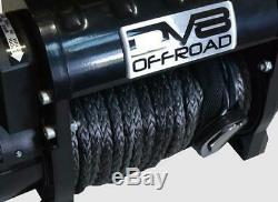 DV8 Offroad WB12SC 12000 LB Winch with Steel Cable & Wireless Remote Black