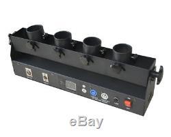 Dmx/remote control 4 head shots stage confetti cannon launcher machine for party