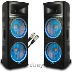 Dolphin SPX-280BT DJ Speaker Set Active/Active Pair with 25 foot XLR Cable