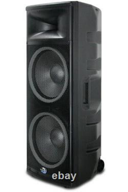 Dolphin SPX-280BT ELITE Series Dual 15 Inch Party Speaker with RAVE Light