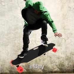 Electric Skateboard 2.9 Wheels Longboard Wireless Remote Controller 7Layers RED