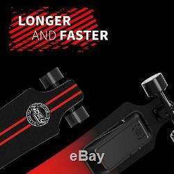 Electric Skateboard Longboard 18.6MPH Wireless Remote Control Dual Motor 4Wheels