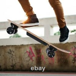Electric Skateboard Longboard Scooter 4 Wheels With Wireless Remote Control AA