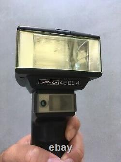 Fully Working Metz Mecablitz 45 CL-4 Handle Mount Flash, box + EXTRA ACCESSORIE
