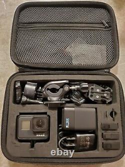 GoPro HERO7 Black withDual Charger 4 Batteries, Case, SD, Chest + MANY Other Mounts