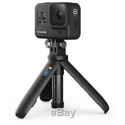 GoPro HERO8 Black Bundle with Shorty, Head Strap, Spare Batt, 32GB Card