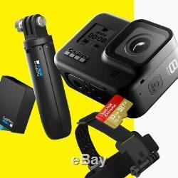 GoPro HERO8 Black Camera Includes Shorty, Head Strap, 32GB SD Card & 2 Batts
