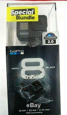GoPro HERO8 Black (Special Holiday Bundle with Batt/Mounts/32GB) + 128GB SDXC