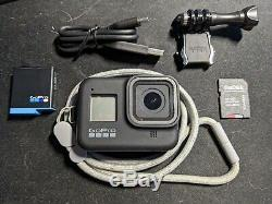 GoPro Hero8 Black with extra battery, Lanyard & Sleeve, 128GB SD Card