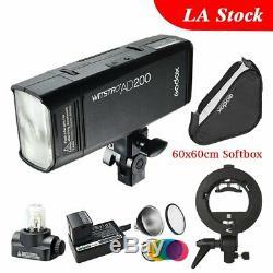 Godox 2.4G Double Head AD200 TTL HSS Studio Strobe Camera Flash S Type Bracket