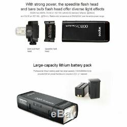 Godox 2.4G TTL Double Head AD200 Pocket Speedflash Speedlite 2900mAh Battery