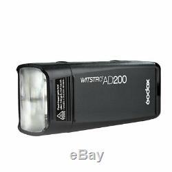 Godox AD200 2.4 TTL Double Head Outdoor Pocket Flash 2900mAh Battery Speedlite
