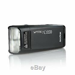 Godox AD200 2.4G TTL 1/8000 HSS Double Head Pocket Flash Speedlite with Battery