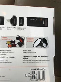 Godox AD200Pro TTL 2.4G Pocket Flash for Fuji Olympus Panasonic Pentax Camera