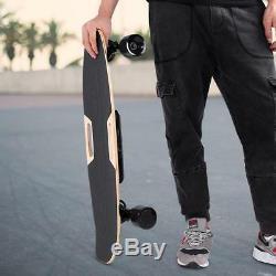 H2S 4 Wheel Electric Skateboard Longboard Double Engine Wireless Remote Control