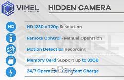 Home Alarm Smoke Detector 32GB Hidden Security Spy Camera Remote Controller