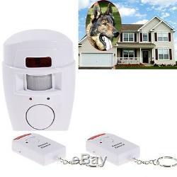 Home Security Wireless Alarm System IR Motion Sensor Detector + 2 Remote Control