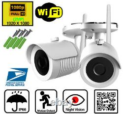 Home Wireless Security Camera System Outdoor 1080P 4 or 8 CH WIFI NVR WD 1TB HDD